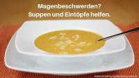 Magenbeschwerden? Suppen und Eintöpfe helfen. Foto einer Süßkartoffel-Kokos-Suppe