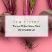 Rote-Rüben-Salat mit Zucchini, Champignons, Dille, Feta und Cashews