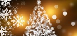 Weihnachtsbaum aus gezeichneten Schneeflocken, Foto von Pixabay