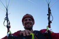 Florian Thamer beim Paragliding