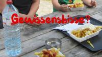 Pommes mit Mayonnaise als Hauptgericht in Holland. Gewissensbisse? Nein danke!