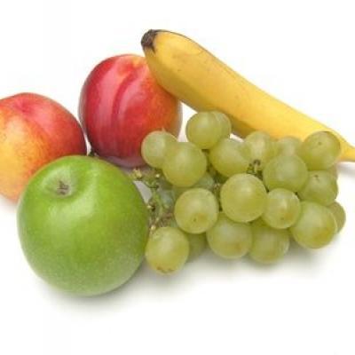 Apfel, Banane, Weintrauben