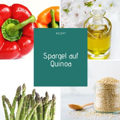 Foto von Spargel, Quinoa, Paprika und Olivenöl