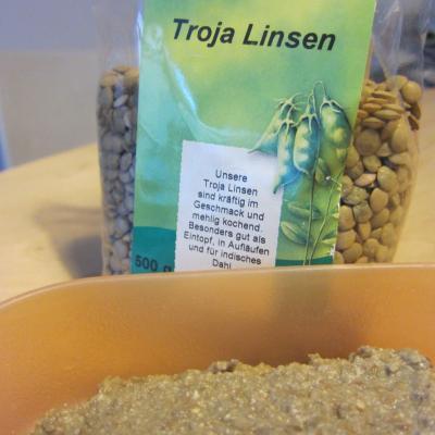 Linsen-Aufstrich - stärkt die Nieren und die Milz