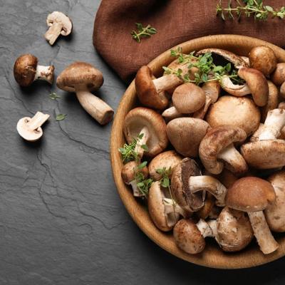 Foto einer Schüssel mit Pilzen