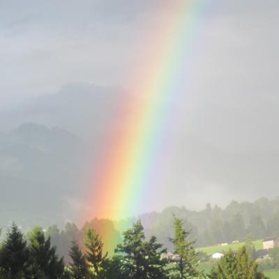Regenbogen - Symbol für die fünf Elemente