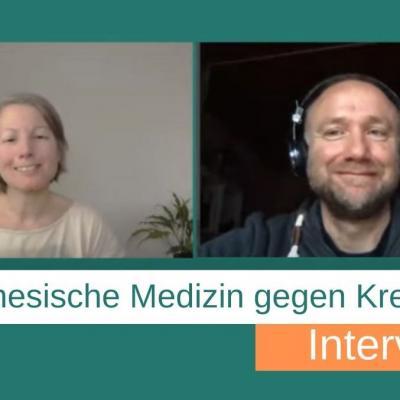 """Fotos von Katharina Ziegelbauer und Georg Weidinger beim Interview """"Chinesische Medizin gegen Krebs"""""""